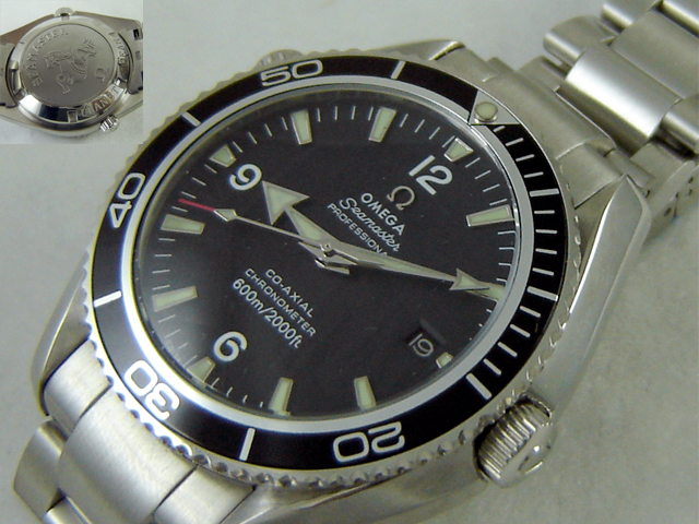 Replica Omega PLANET OCEAN STEEL BLACK - Ø44mm