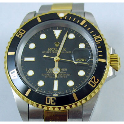 SUBMARINER BLACK DIAL STEEL-GOLD
