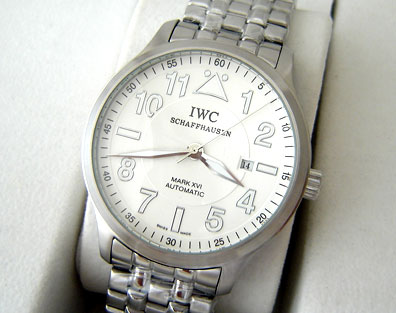 IWC PILOTS AUTOMATIC STEEL WHITE DIAL