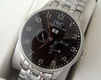 IWC PILOTS AUTOMATIC BLACK