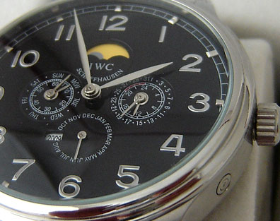 IWC PORTUGUESE AUTOMATIC STEEL BLACK DIAL
