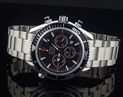 PLANET OCEAN CHRONOGRAPH QUARTZ BLACK DIAL