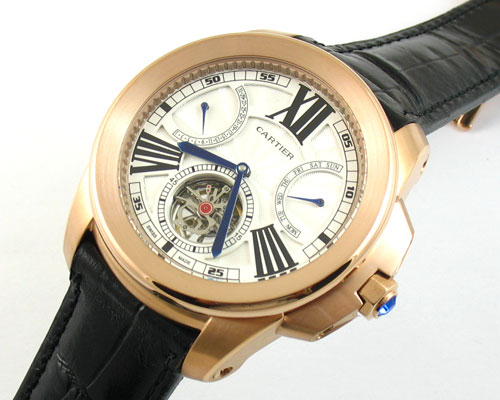 Replica Cartier Calibre Oro con Toubillon.