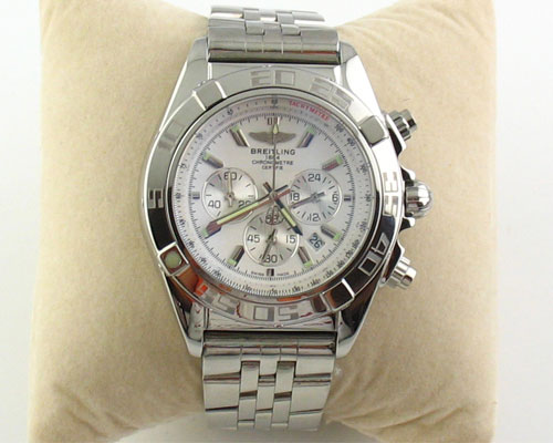BREITLING 1884 CHRONOMETRE STEEL WHITE - Ø 44mm.