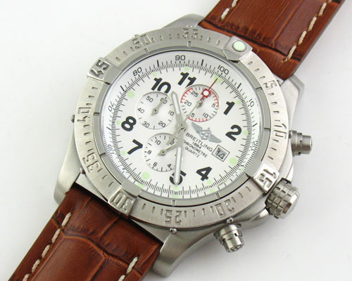 BREITLING 1884 CHRONOMETRE WHITE - Ø 47mm.