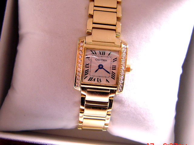 CARTIER GOLD DIAMOND QUARTZ 21mm (C29L)