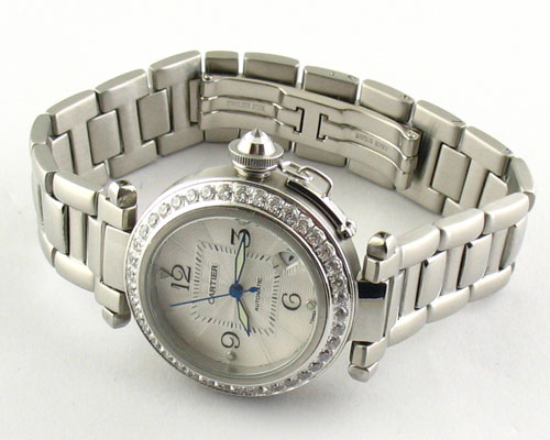 CARTIER LADY DIAMONDS WHITE QUARTZ Ø36mm. (C18)