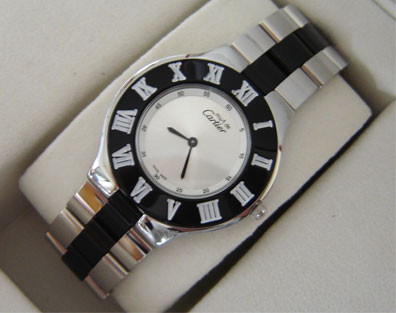 CARTIER BLACK QUARTZ 21mm (C39L)