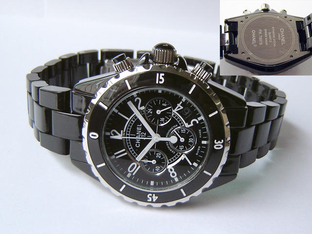 CHANEL J12 QUARTZ CHRONOGRAPH BLACK - Ø 40mm.