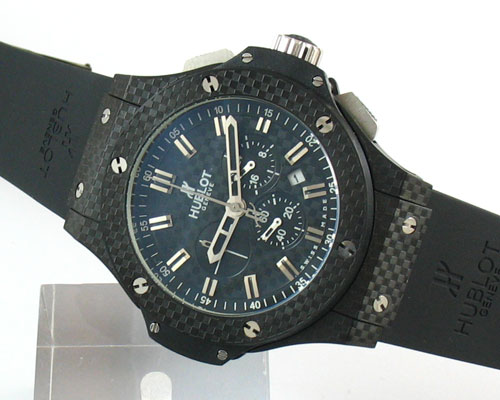HUBLOT ALL BLACK CHRONOGRAPH QUARTZ Ø44mm.