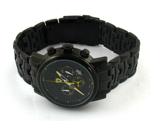 FERRARI Quartz Chronograph BLACK DIAL -Ø46mm.