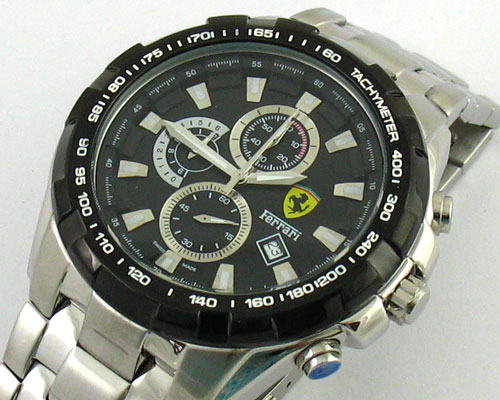 FERRARI CHRONOGRAPH BLACK DIAL -Ø46mm.