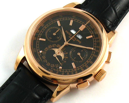 PATEK PHILIPPE GOLD BLACK DIAL -Ø 43mm
