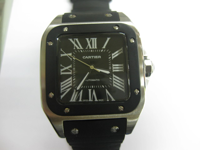 CARTIER SANTOS 100 AUTOMATIC BLACK 40mm (C50B)