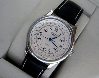LONGINES GMT WHITE DIAL -Ø40mm.