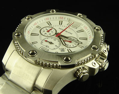 MONTBLANC WHITE DIAL STEEL CHRONOGRAPH - 44mm
