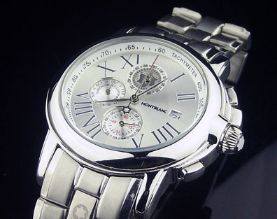 MONTBLANC WHITE DIAL STEEL AUTOMATIC - 43mm