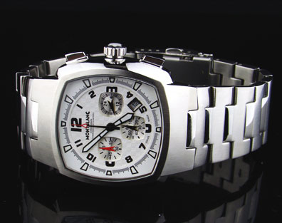 MONTBLANC WHITE DIAL STEEL CHRONOGRAPH - 42mm
