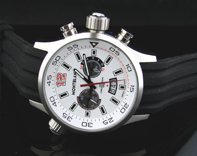 REPLICA MONTBLANC WHITE DIAL CHRONOGRAPH - 45mm