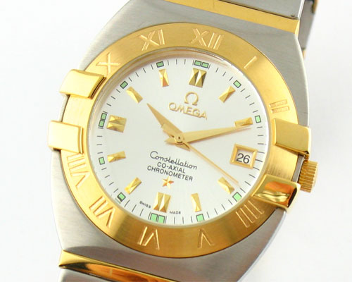 OMEGA CO-AXIAL GOLD WHITE DIAL QUARTZ 40mm