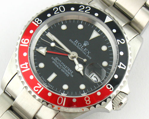 GMT MASTER II BLACK/RED BEZEL