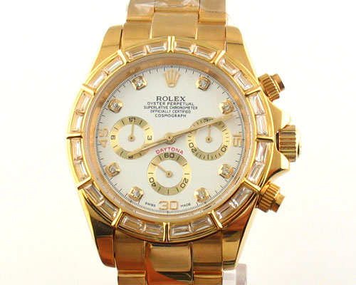 Replica Rolex DAYTONA GOLD WITH DIAMONDS 40mm: