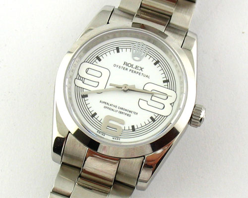 ROLEX Replica Watches OYSTER PERPETUAL WHITE DIAL - Ø 36mm.