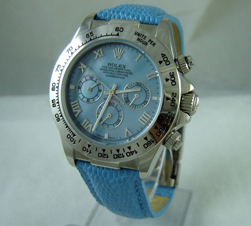 Replica Rolex DAYTONA BLUE-LEATHER