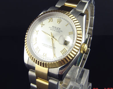 Rolex Replica DATAJUST STEEL-GOLD  - Ø 36mm.