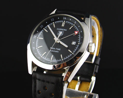 CARRERA TWIN TIME BLACK DIAL