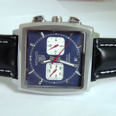 REPLICA TAG MONACO BLUE STRAP