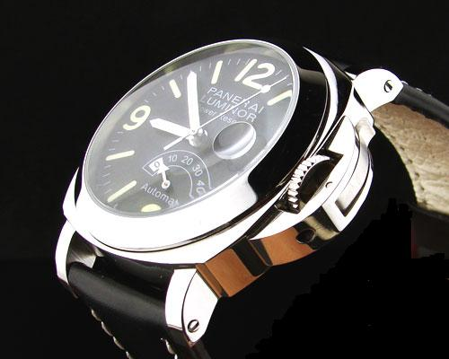 PANERAI POWER RESERVE BLACK DIAL STEEL 316L