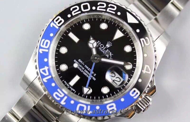 REPLICA ROLEX GMT MASTER II BLUE/BLACK