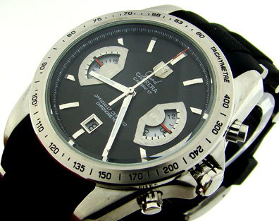 CARRERA CALIBRE 17 QUARTZ CHRONOGRAPH BLACK DIAL (T64)
